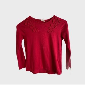 Red Zara top for little girl